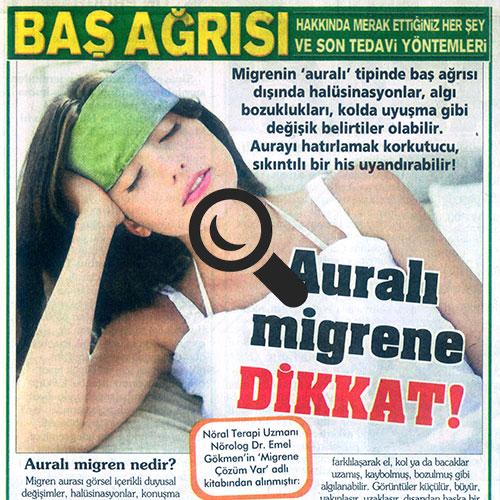 Auralı Migrene Dikkat