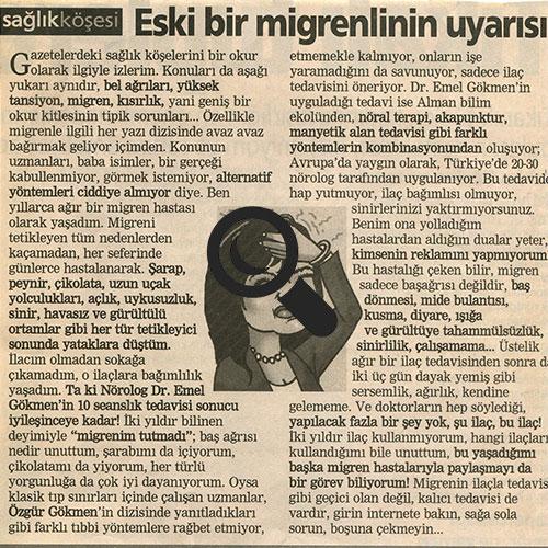Eski Bir Migrenlinin Uyarısı