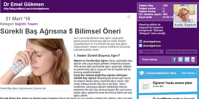 Home image surekli bas agrisina 5 bilimsel cozum Milliyet Blog Dr. Emel Gokmen