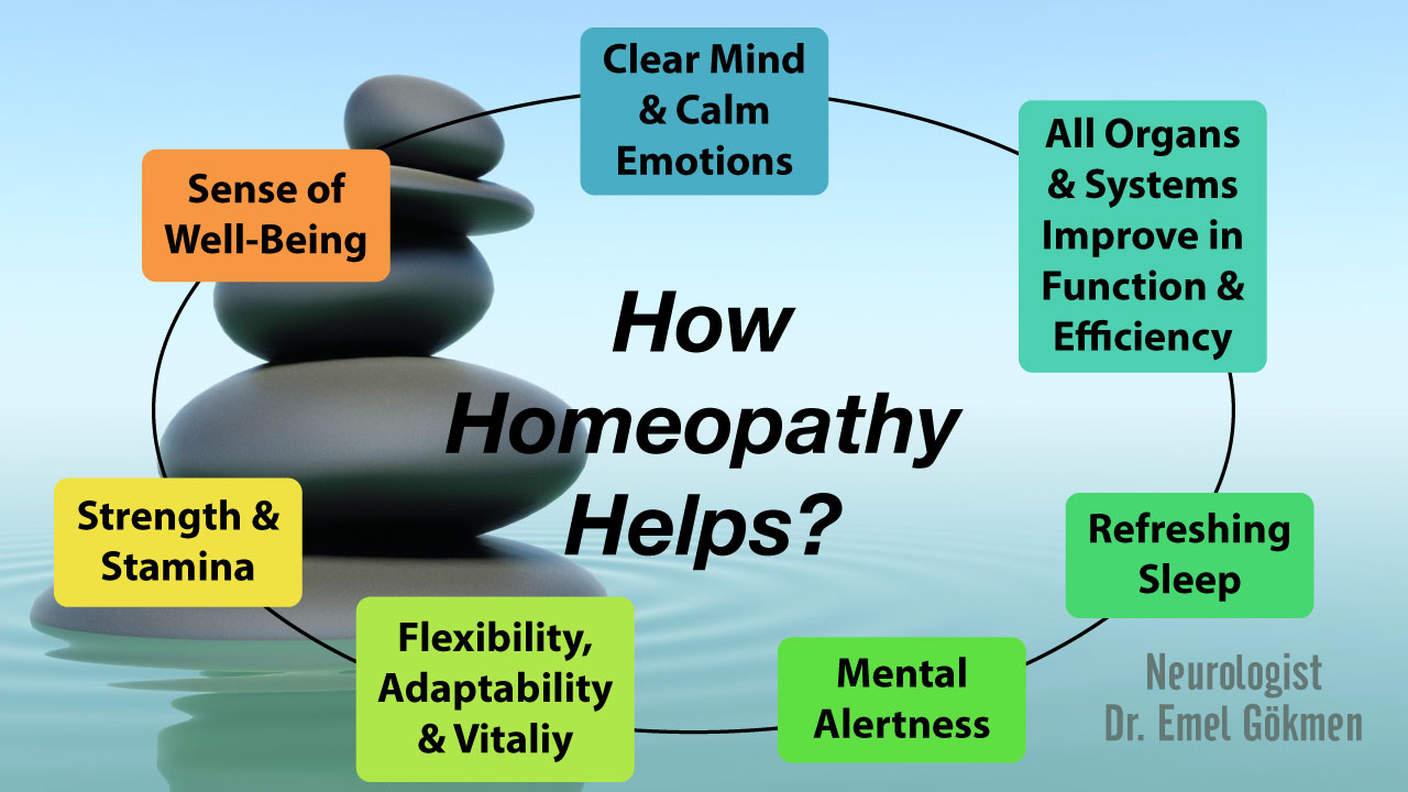 How homeopathy helps? Infographic Dr. Emel Gokmen