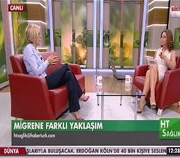 TV interviews, Haberturk, HT Saglik, Migren Tedavisi, Dr. Emel Gokmen