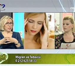 TV interviews, Cem TV, Saglikli Yasam,  Migrene Cozum Var ve Bas Agrilari, Dr. Emel Gokmen