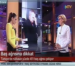 TV interviews, NTV, Gece Bulteni, Migrene Cozum Var Kitabi Migrene Yeni Yaklasim, Dr. Emel Gokmen