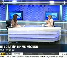 TV interviews, TVNet, Saglik Raporu, Integratif Tip Yaklasimi Migren ve Bas Agrilari, Dr. Emel Gokmen
