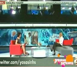 TV interviews, A Haber, Yasasin Haftasonu, Agri Tedavisi Noral Terapi, Dr. Emel Gokmen
