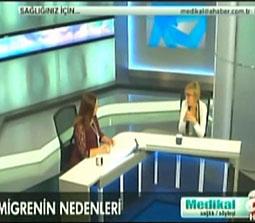 TV interviews, A Haber, Medikal, Migren ve Bas Agrisi Cesitleri Kume Bas Agrisi, Dr. Emel Gokmen