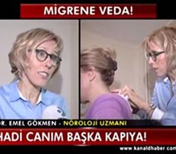 TV interviews, Kanal D, Ana Haber, Migren Bas Agrisi Tedavisi, Dr. Emel Gokmen