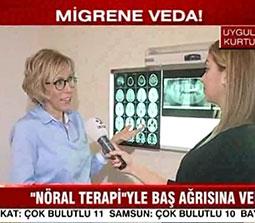TV interviews, Kanal D, Gunaydin Turkiye, Migrende Yeni Tedavi, Dr. Emel Gokmen
