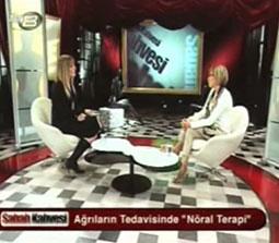 TV interviews, TV8, Sabah Kahvesi, Noral Terapi ile Migren ve Bas Agrilari Tedavisi, Dr. Emel Gokmen