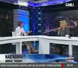 TV interviews, Haberturk, Saba Tumer, Migren Bas Agrilari ve Noral Terapi Nedir?, Dr. Emel Gokmen