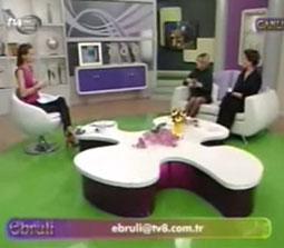 TV interviews, TV8, Ebruli, Migren ve Bas Agrilari Tedavisi Noral Terapi, Dr. Emel Gokmen