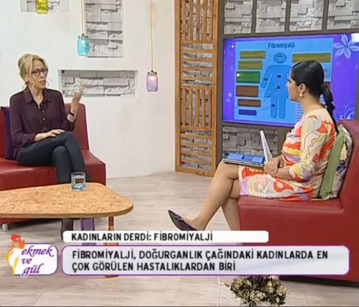 TV interviews, Hayat TV, Ekmek ve Gul, Fibromiyalji Nedir? Fibromiyalji Tedavisi, Dr. Emel Gokmen