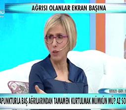 TV interviews, ATV, Zahide ile Yetis Hayata, Migrenin Tedavisi Bel Fitiklarinin Tedavisi, Dr. Emel Gokmen