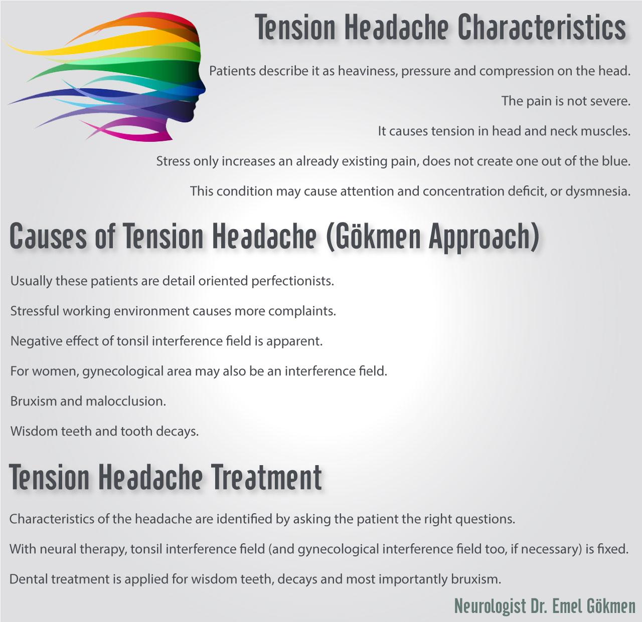 Tension headache infographic Dr. Emel Gokmen